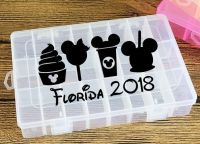 Vinyl Travel Snack Box Decal Treats