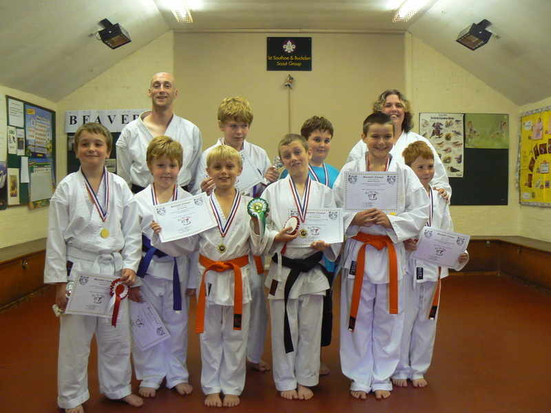 auagust karate camp group