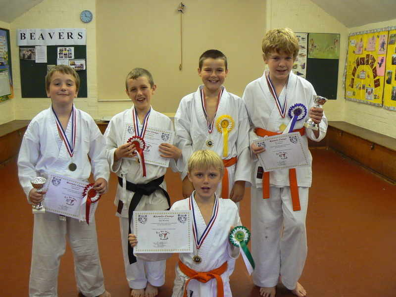 August karate camp group winners