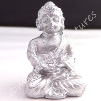 Silver coloured Buddha ornament