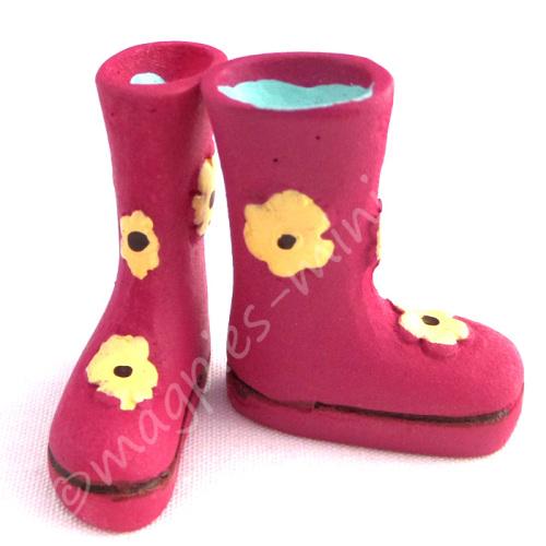 Flower Power Wellington Boots