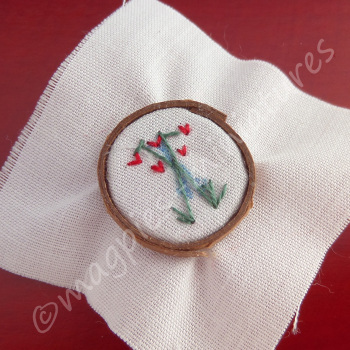 Floral Embroidery on Ring