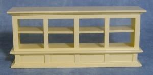 Glass 3 Front Shelf Unit, Cream