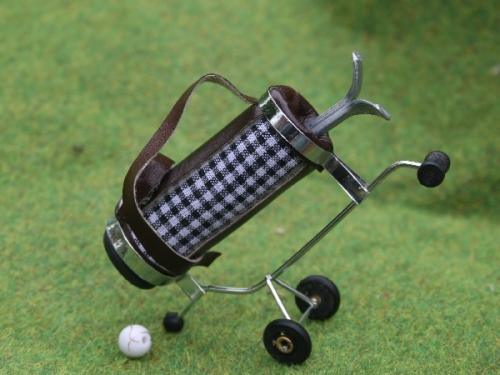 Golf Caddy and golf ball - Black