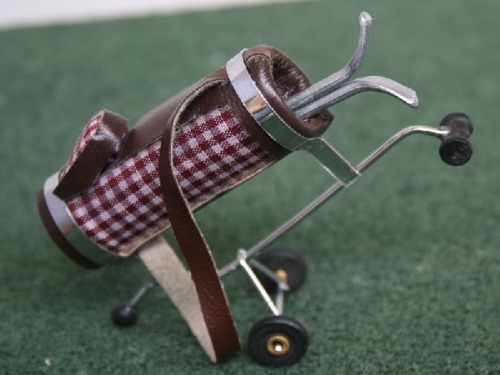 Golf Caddy and golf ball - Red