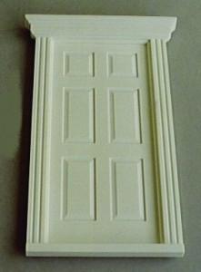Plastic Small Georgian Door