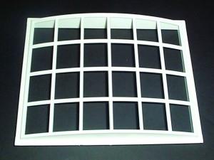Plastic Georgian 24 Pane Bow Front Window