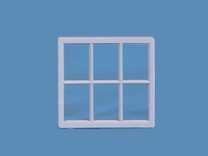 Victorian 6 Pane Window-24th Scale