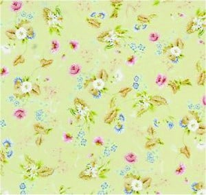 Wallpaper Roccoco Silk, Green background