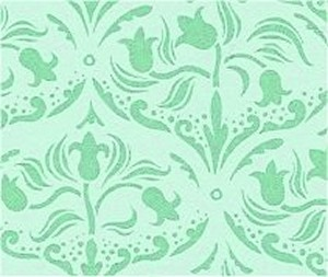 Wallpaper Tulip Arabesque, Sea Green