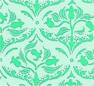 Wallpaper Tulip Arabesque, Turquoise