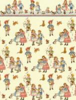 Wallpaper Children on Cream background