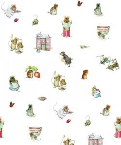 Beatrix Potter- Peter Rabbit-Mouse Friends-Lace