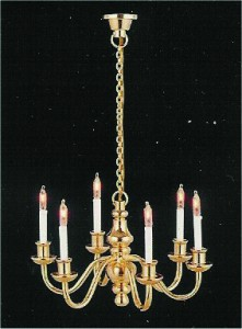 6 Candle Deluxe Candle Chandelier