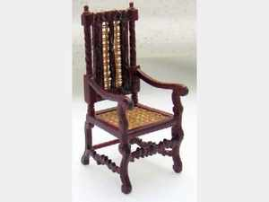 Arm Chair with Cane inserts - 1:24 24th Scale