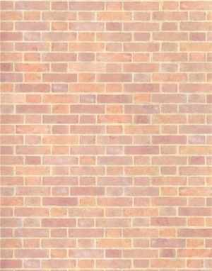 Old Red Brick Wallpaper Per Sheet - 24th Scale