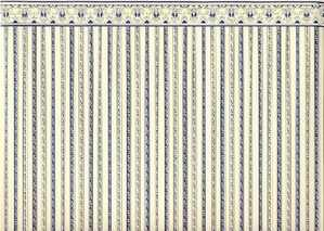 24th Scale Wallpaper Regency Blue Stripe