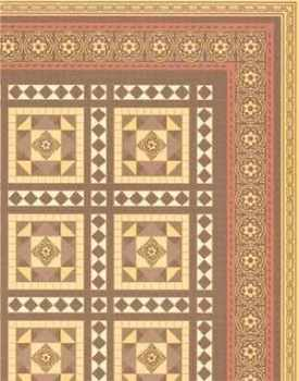 24th Scale Wallpaper Victorian Floor Tiles
