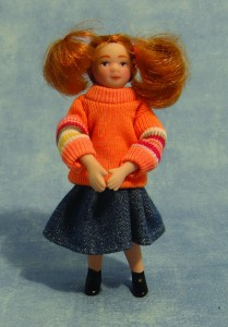Child - Girl - Modern Girl in Orange Sweater