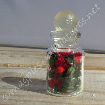Sweet Jar - Green and Red festive wrapped Sweets