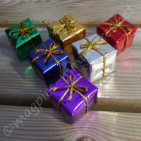 Set of 6 Christmas presents 2.5cm (Large)