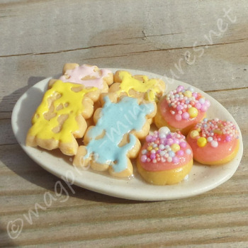 Easter Biscuits on a plate