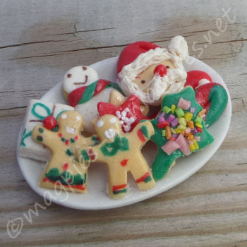 Christmas Biscuits on a plate
