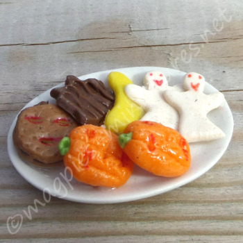 Halloween Biscuits on a plate