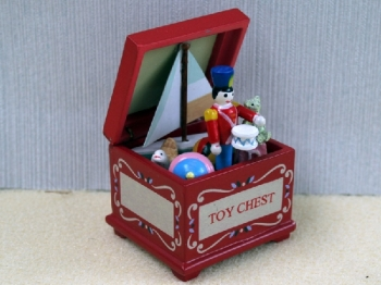 Red Toy Chest with Soldier toy box