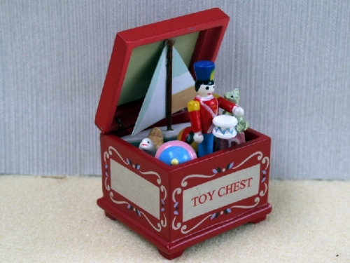 Red Toy Chest with Soldier