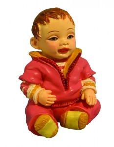 Child - Baby Girl in Romper Suit