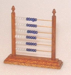 Counting Frame Kit - Blue and White Beads