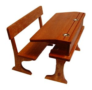 Double School Desk and Bench Kit