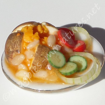 Jacket Potato with Cheese, Beans and Side Salad