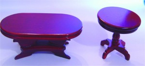 Pair Mahogany Tables