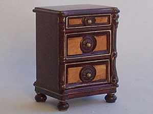 Victorian Mahogany Burl Bedside Cabinet