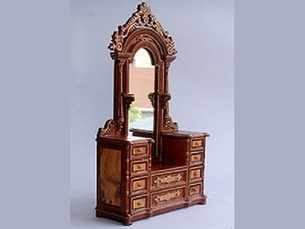 Victorian Burl Timber Dressing Table