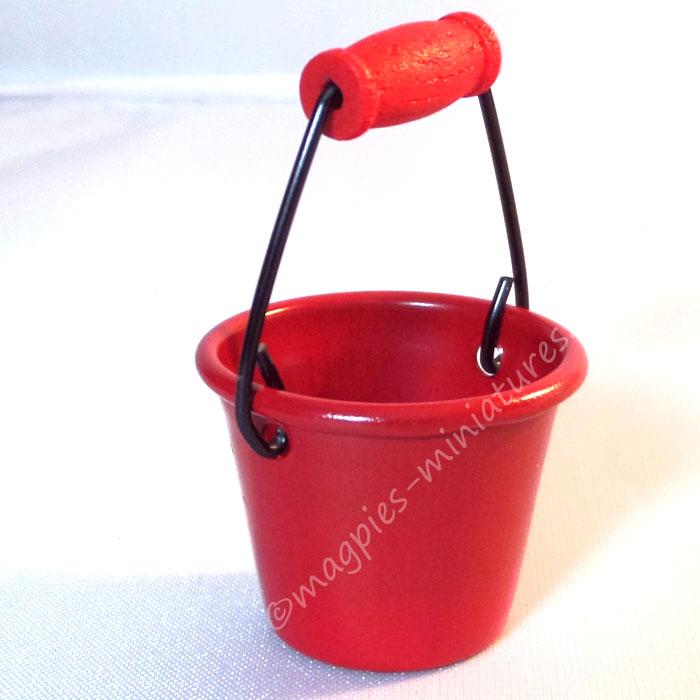 Red Metal Bucket