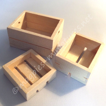 Pack of 3 Wooden Crates