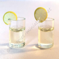 Drinks with slice of lime or lemon Pack of 2