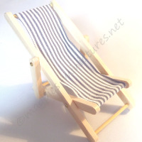 Blue Deck Chair - THIN STRIPE