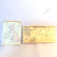 Set of  2  Wall Maps