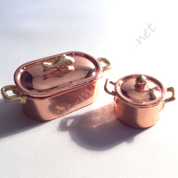 Copper Pans - Finest Quality (2 Pc)