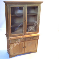 Display Cabinet - Antique Pine