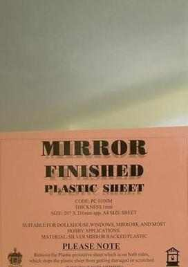 Mirror plastic Sheet 1mm A4 Size