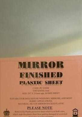 Mirror plastic Sheet 1mm A4 Size
