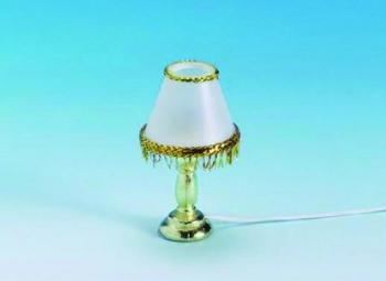 Gold trim table lamp