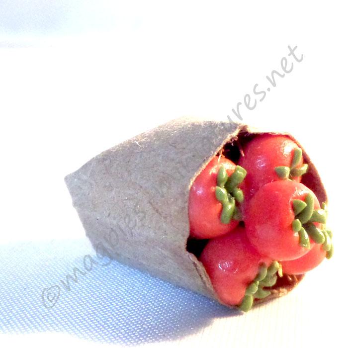 Brown Paper Bag Groceries - Tomatoes