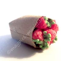 Brown paper bag groceries - strawberries