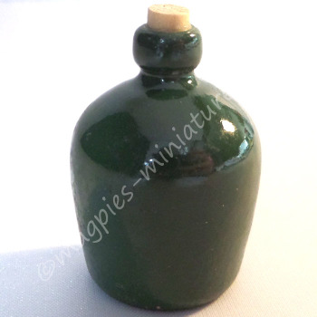 Green corked Carboy bottle
